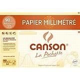 Canson Pochette papier millimètre bistre 21x29 12 Feuilles