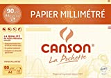 CANSON A4 Graph Paper with Millimetre Markings 90 gsm Dark Brown