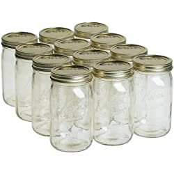 Kerr 0519 wide mouth jar quart, 32oz (case of 12)