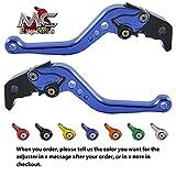 MC Short Adjustable CNC Levers KTM 950 Supermoto 2007   2008 Blue
