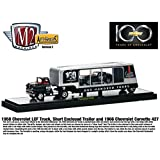 1958 Chevrolet LCF truck short trailer and 1966 Chevy Corvette 1 64 CENTENNIAL EDITION by Collectable Diecast