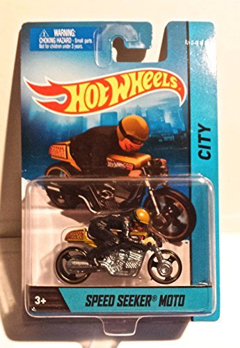 Hot Wheels Speed Seeker Moto Hw City Die-cast Motorcycle with Rider