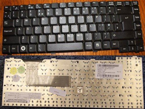 Keyboards4Laptops Fujitsu Siemens Amilo Li 1818 Schwarz Vereinigtes Königreich kompatible Ersatztastatur