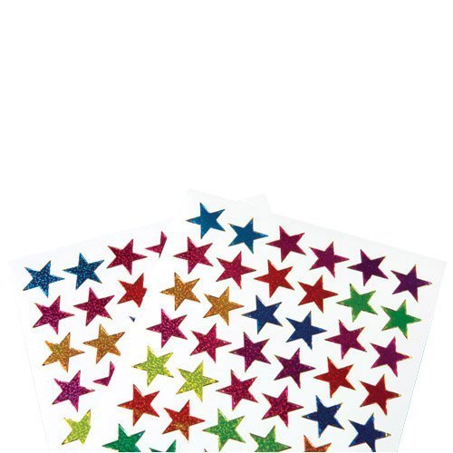 US Toy Classic Metallic Star Stickers Toy (Lot of 576), Assorted Color