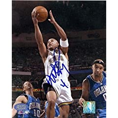 David Wesley Autographed Hand Signed 8x10 Photo (New Orleans Hornets)