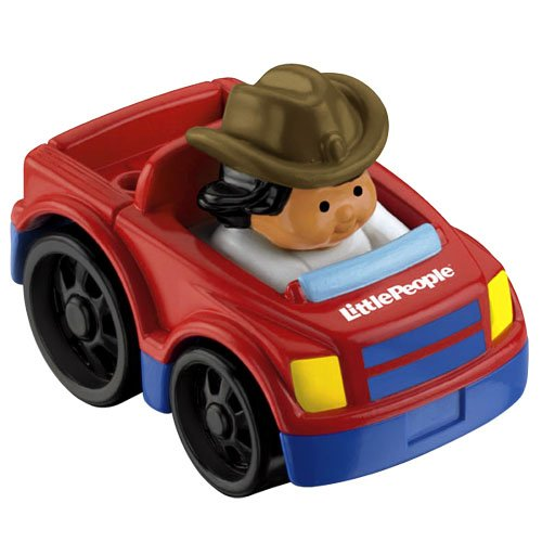 FISHER PRICE Fahrzeug mit Figur Little People Wheelies Pick-up Truck MATTEL T5629