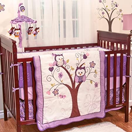 Plum Owl Meadow Bedding