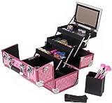 SHANY Cosmetics SHANY Premium Collection Makeup Train Case, Hot Pink Diamond