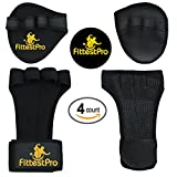 Crossfit/Weightlifting Gloves With Wrist Wraps & Neoprene Hand Grip Pads Bundle Set For Men & Women - Money-Saving 2-in-1 Fitness Bundle for Cross Training, Weightlifting & Gym Workout (Large)