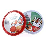 2 x Kelloggs Metal Trays In Frosted Flakes / Frosties Design in Red & White - Twin Pack