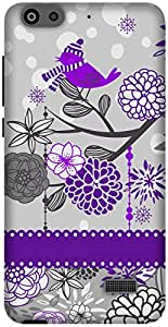 The Racoon Grip Purple Sparrow Song hard plastic printed back case / cover for Huawei Honor 4C