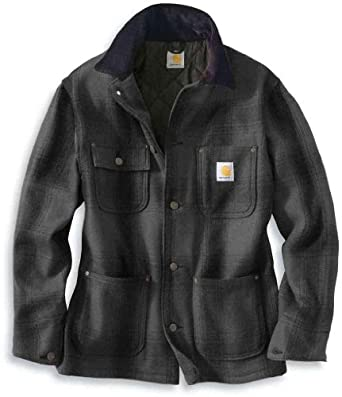 Carhartt Wool Chore Coat Black Carbon by Carhartt