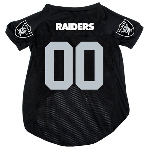Nfl Oakland Raiders Pet Jersey With Patch, Small, Team Color front-811107