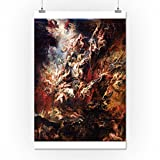 The Fall of the Damned - Masterpiece Classic - Artist: Peter Paul Rubens c. 1620 (16x24 Giclee Gallery Print, Wall Decor Travel Poster)