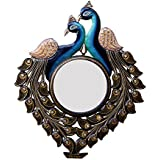 Divraya Wood Peacock Wall Mirror (50.8 Cm X 4 Cm X 60.96 Cm)