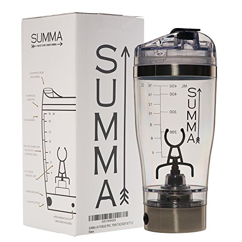 SUMMA | HI-TORQUE PROTEIN SHAKER | LI-ION USB RECHARGEABLE | 16OZ NUTRIENT BLENDER BOTTLE