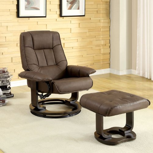Swivel Recliner With Ottoman front-422418