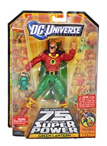 "DC Universe ""DC Comics 75 Years of Super Power"" Wave 14 Classics Series 6 Inch Tall Action Figure #7 - GREEN LANTERN with Lantern and Ultra-Humanite's Right Leg Plus Collector Button (R5792)"