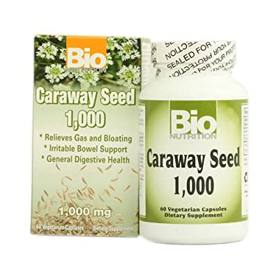 Wholesale Bio Nutrition Caraway Seed 1 000 mg - 1000 mg - 60 Vegetarian Capsules, [Health & Beauty, Homeopathic Remedies]