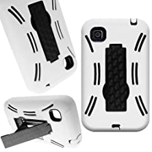 buy Coveron® Hybrid Dual Layer Kickstand Case For Lg Optimus Dynamic Ii - With Cover Removal Pry Tool - Black Hard White Soft Silicone