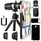 CamKix Camera Lens Kit For Samsung Galaxy Note 3 Including 12x Telephoto Lens / Fisheye Lens / Macro And Wide...