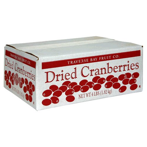 Traverse Bay Dried Cranberries, 4-Pound Box