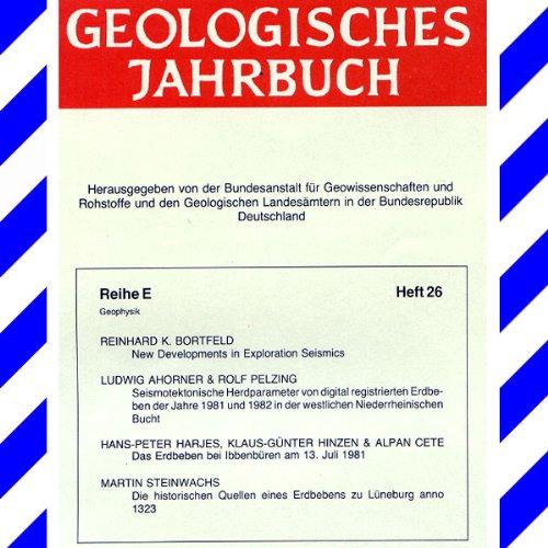 Geologisches Jahrbuch E 26: ERDBEBEN in Deutschland, Niederrhein. Bucht, Geophysik