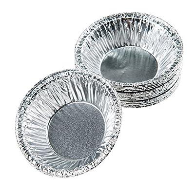 """Moldiy Disposable 3"""" Aluminum Foil Tart/Pie Pans Mold(250 pcs)"""