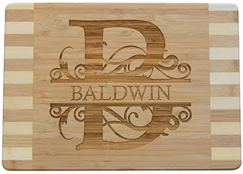 Personalized / Custom Engraved Bamboo Wood Cutting Board - 13.6x9.6x0.7 by Brew City Engraving