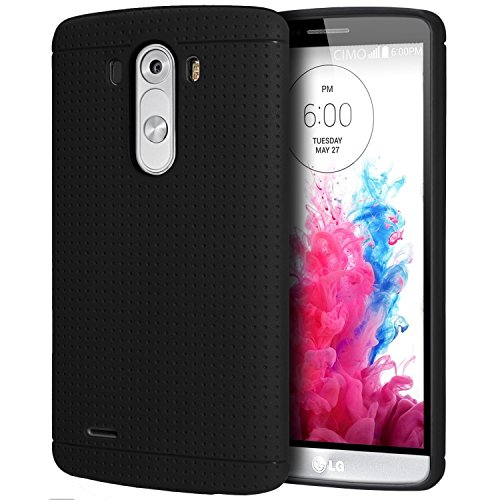 Heartly New Retro Dotted Design Hole Soft TPU Matte Bumper Back Case Cover For Motorola Moto Turbo XT1254 - Rugged Black