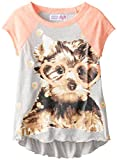Derek Heart Big Girls Raglan Top with Animal Print