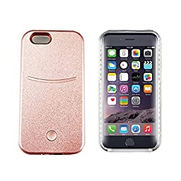 iPhone 6 plus Illuminated Cell Phone Case with 1500mAh Portable Power Source Yayan iPhone 6S plus Led Illuminated Case Great for a Bright Selfie and Facetime,Dimmable-Rose Gold