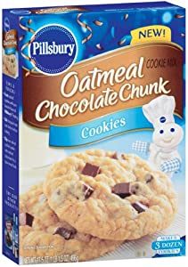 Pillsbury Oatmeal Chocolate Chunk Cookie Mix, 17.5000-Ounce (Pack of 6)