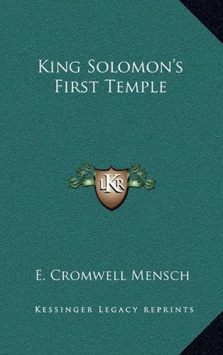 King Solomon's First Temple