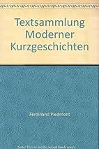 Textsammlung Moderner Kurzgeschichten by…