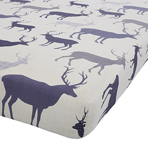 tartan-stag-navy-blue-100-brushed-cotton-king-size-fitted-sheet-naipmarg