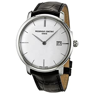 Frederique Constant Men's FC306S4S6 Slim Line Slim Line Mens Silver Dial Automatic Watch Watch from Frederique Constant