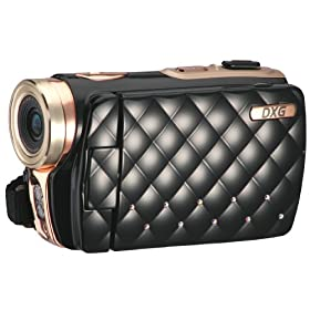DXG USA DXG-535VK HD Riviera 720p High-Definition Camcorder Luxe Collection, Black