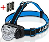 LED Headlamp Flashlight for Camping, Running, Hiking, Reading, Kids, DIY & More! Ultra-Bright Headlight w/ *FREE* Batteries Is Lightweight & Comfortable - Makes a Great Gift