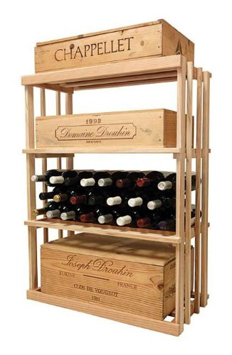 3 Ft. 1-Column Wooden Wine Rack (Rustic Pine - Unstained) front-578941