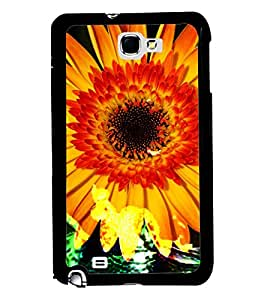 PRINTVISA Premium Metallic Insert Back Case Cover for Samsung Galaxy Note 2 - N7100 - D6036