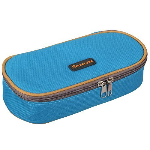 Homecube Astuccio portamatite, spazioso, per cancelleria di studenti, colore blu