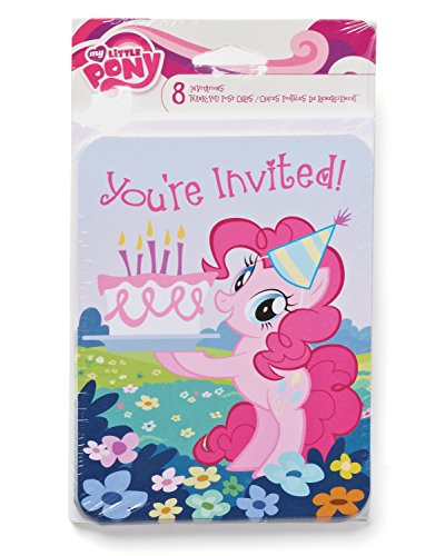 American Greetings My Little Pony Invite and Thank-You Combo Pack (8-Count) - 1