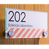 Displays2go Oval Office Sign for Wall or Door, Stainless Steel Standoffs, 6