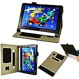 【3点セットフィルム1枚タッチペン付】 Lenovo タブレット YOGA Tablet 2 10.1型ワイド with Windows & Android 兼用 オートスリープ機能付 マグネット開閉式 分離式多機能ケース カバー