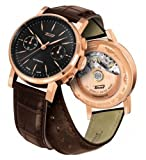 Tissot T9044327605100 Heritage 2009 Automatic Rose Gold Mens Leather Watch