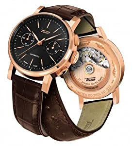 Tissot T9044327605100 Heritage 2009 Automatic Rose Gold Men's Leather Watch