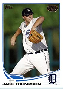 2013 Topps Pro Debut Baseball Card # 209 Jake Thompson - GCL Tigers (Prospect / Rookie Card) MLB / MiLB Minor League Trading Card ( IN PROTECTIVE SCREWDOWN DISPLAY CASE)