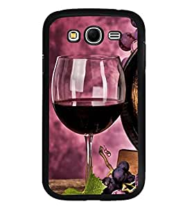 Fuson Premium 2D Back Case Cover Glass of wine With Blue Background Degined For Samsung Galaxy Grand i9080:::Samsung Galaxy Grand i9082