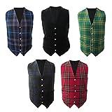 Tartanista Scottish/Irish Tartan Waistcoats/Vests - 5 Plaids - Sizes 36 - 58